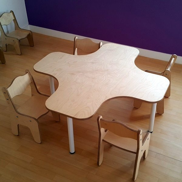 Moon Kids Furniture School Nursery Wooden Plus Table Chairs 1
