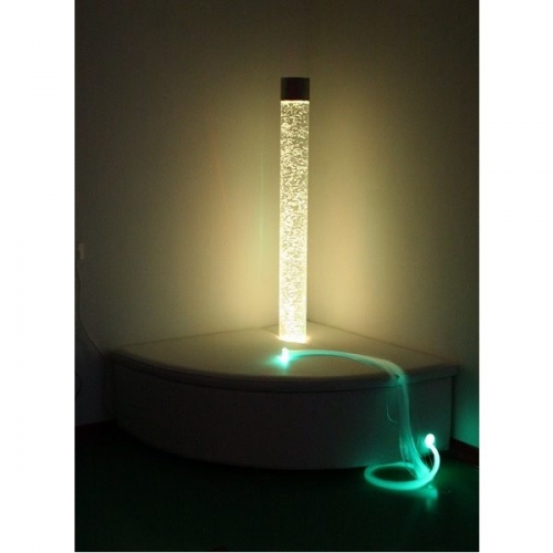 Bubble Tube with Plinth & Fibre Optic Bundle