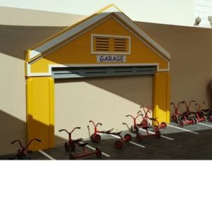 moon kids play time playhouse garage facade