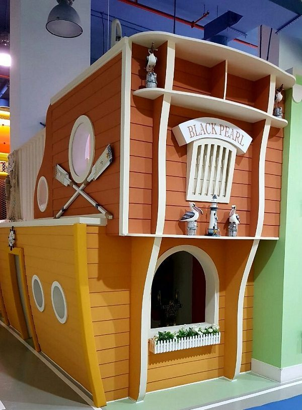 moon kids play time playhouse wooden ship