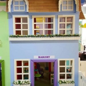 moon kids play time two storey playhouse bakery