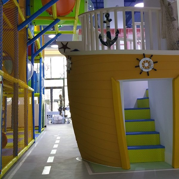 Moon Kids Wooden Boat Playhouse
