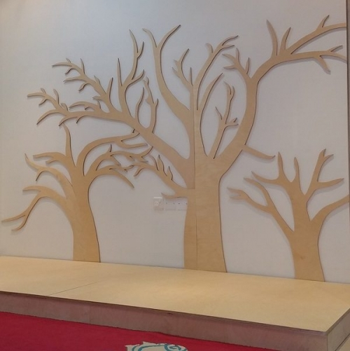 moon kids pretend play tree wall art