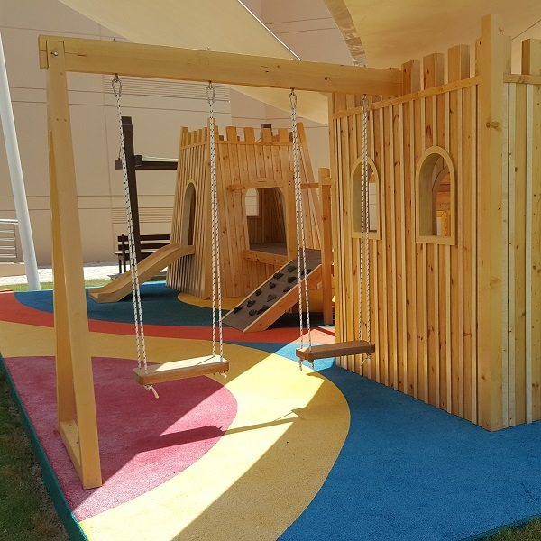 Moon Kids Castle Wood Play Den