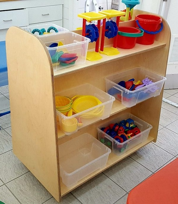moon kids furniture double sided shelving unit