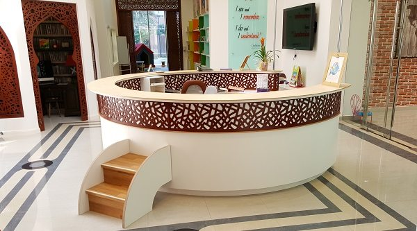 moon kids furniture reception desk
