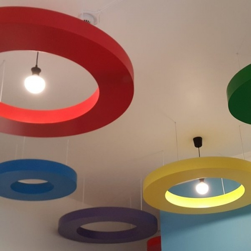 moon kids nursery equipment ceiling circles