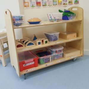 moon kids 3 shelf mobile shelving unit
