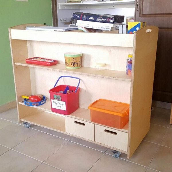 moon kids furniture art trolley with 6 drawers