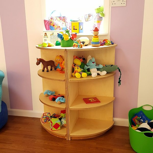 moon kids furniture corner unit with 3 compartments