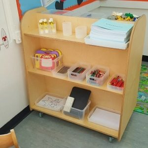 moon kids furniture double sided shelving unit2