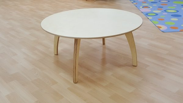 moon kids furniture large round table with wooden legs