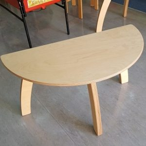 moon kids furniture semi circle table with wooden legs