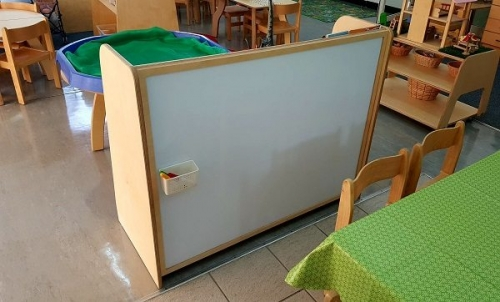 moon kids furniture shelving unit with magnetic board 5