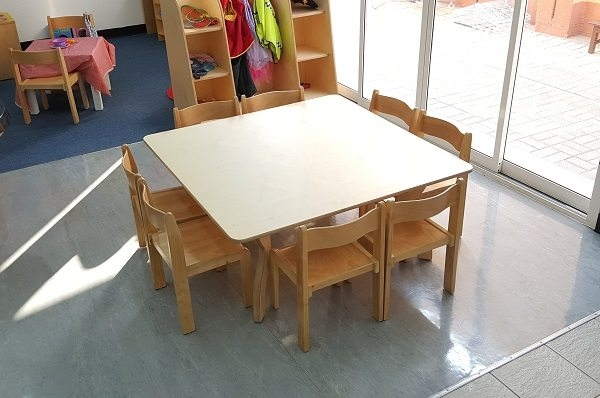 square table eight chairs set moon kids uae