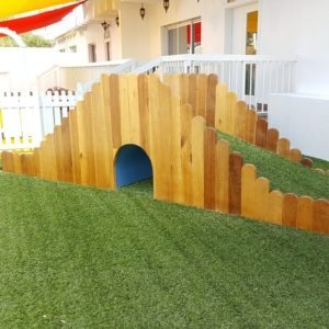 Moon Kids play time green grass fun hill