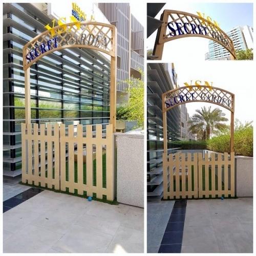 moon kids playequipment secret garden gate arch