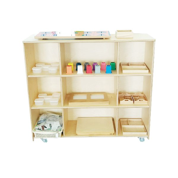 moon kids straight shelving unit with wheels