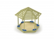 Hexagonal Sandbox with Shadow Roof 4