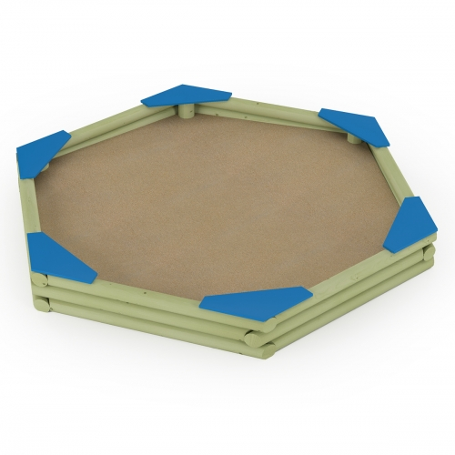 Hexagonal Sandbox with Seats