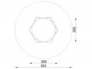 Hexagonal Sandbox with Seats 10