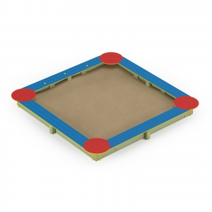 Square Sandbox with HDPE