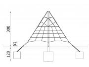 Small Pyramid Climbing Net 6