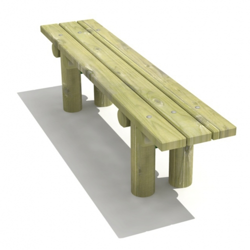 Stationary Log Bench