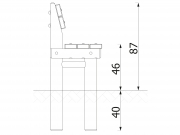 Stationary Log Bench with Backrest 6