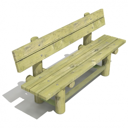 Mobile Log Bench with Backrest