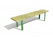 Stationary bench with angle bars 4
