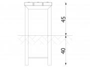 Stationary bench with angle bars 6