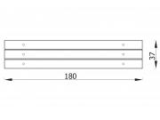Stationary bench with angle bars 7