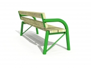 Stationary pipe bench with backrest 4