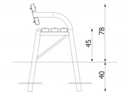 Stationary pipe bench with backrest 6