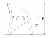 Mobile pipe bench with backrest 6