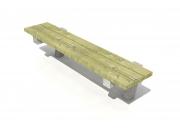 Bench on concrete frame 4