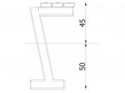 Bench on concrete frame 6