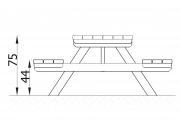 Freestanding Bench & Table 6