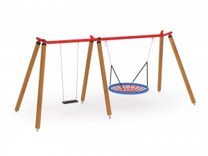 Double Orbis Swing with Bridnest Seat