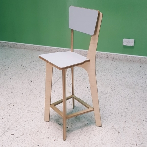 Moon Kids High Stool with Backrest