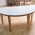 Moon Kids Semi Circle Table with Wooden Legs