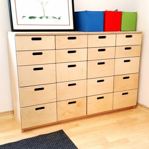 Moon Kids Wooden Drawer Unit