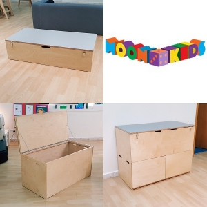 Moon Kids Trio of Storage Boxes