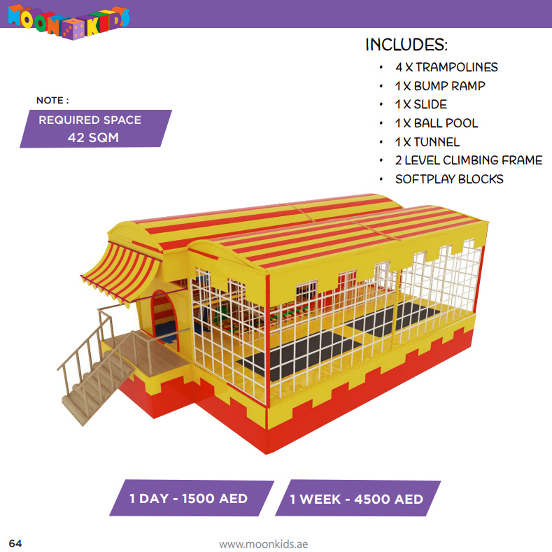 Moon Kids Rentals Mobile Moon Maze with Softplay and Trampolines-2