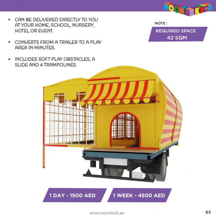 Moon Kids Rentals Mobile Moon Maze with Softplay and Trampolines