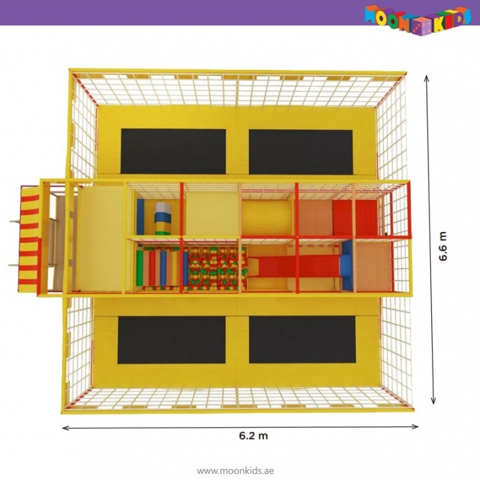 Moon Kids Rentals Mobile Moon Maze with Softplay and Trampolines-4