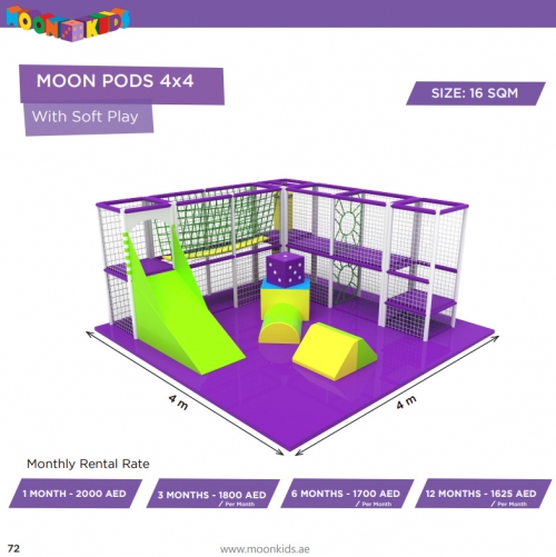 Moon Kids Rentals Moon Pods 4x4 With Soft Play