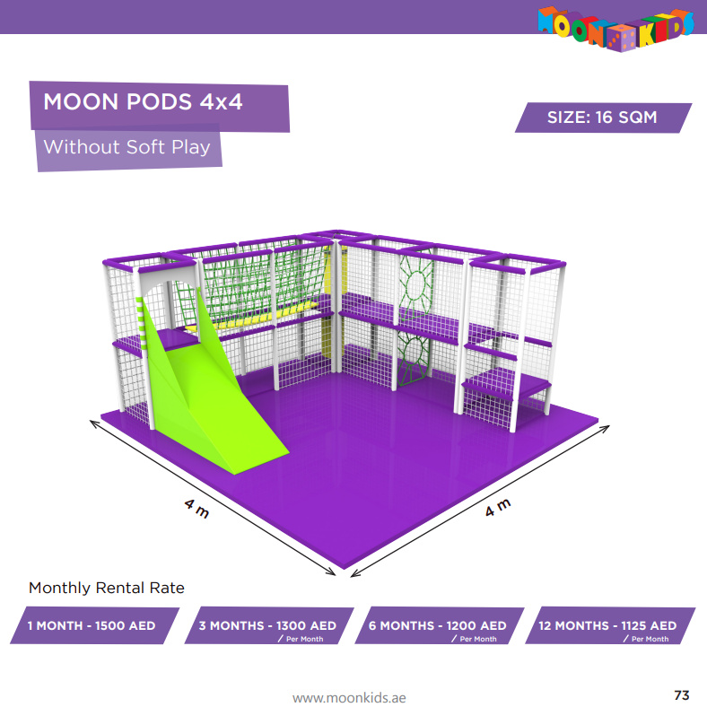 Moon Kids Rentals Moon Pods 4x4 Without Soft Play