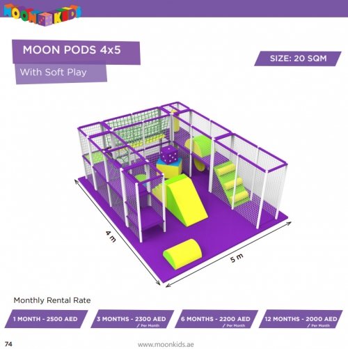 Moon Kids Rentals Moon Pods 4x5 With Soft Play